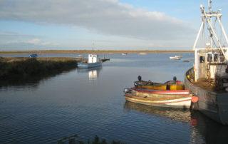 North Norfolk coast and boats.