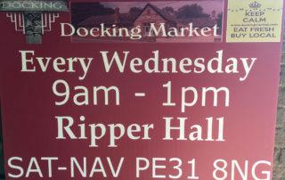 Docking market sign.