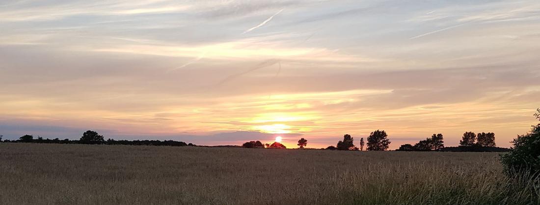 Norfolk view - sunset.